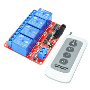 5V-4-Channel-Switch-Relay-Driving-Module-Board-4-Key-Remote-Controller