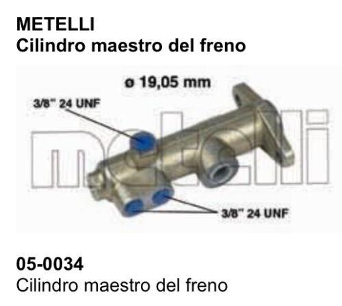 POMPA FRENO CILINDRO MAESTRO DEL FRENO RENAULT 5//6 METELLI 05-0034