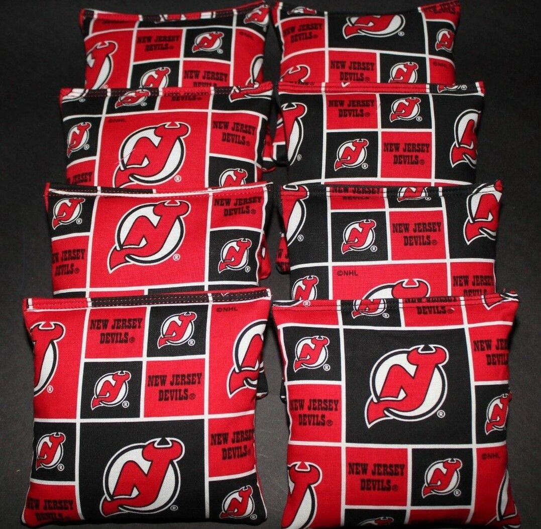 NEW JERSEY DEVILS CORNHOLE BEAN BAGS 8 ACA REGULATION NHL FAN GIFTS