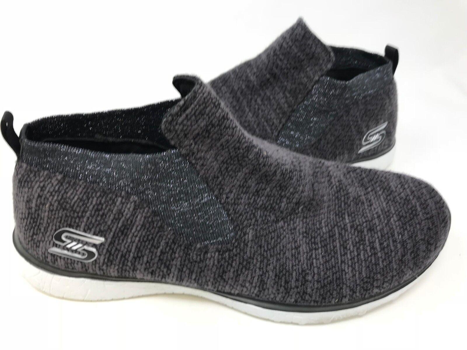 nouveau!sketchers femmes est microrafale imagination chaussures blanc noir / blanc chaussures n az 5929cf