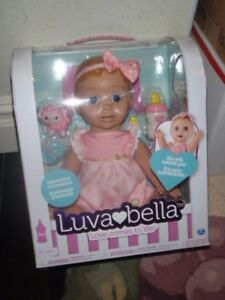 Luva Bella Doll Luvabella Interactive Baby Blonde Girl Brand New In