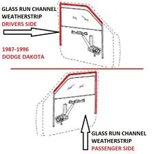 Front Upper Window Glass Run Channel Seal Pair for 61-71 Dodge D W Pickup Truck