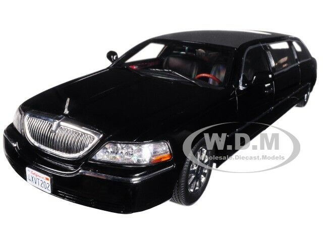 2003 Lincoln Town Car Limo Limousine Black 1 18 Diecast Model By