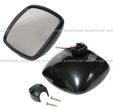 Freightliner M2 Columbia Rear View Wide Angle Mirror Black HEATED- Driver Side