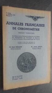 Folleto-Anales-Franceses-De-Chronometries-N-3-3E-Trim-1937-ABE