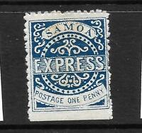 SAMOA  1877-80  1d  BLUE   EXPRESS   MH   SG 15