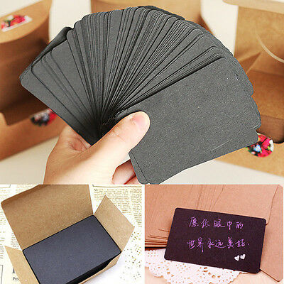 100* Blank Kraft Paper Hang Tags Wedding Party Favor Label Price Gift Cards