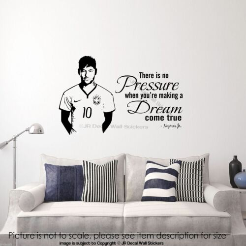 Barcelona Footballer Neymar Junior Wall Sticker Sports Celebrity Quote Decal D2