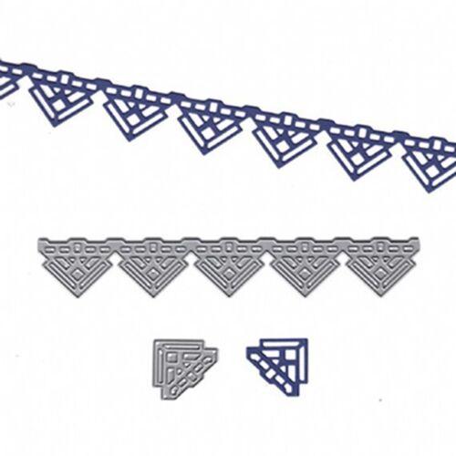 Lace DIY Metal Cutting Dies Stencil Scrapbook Embossing Handmade Card Gift Craft
