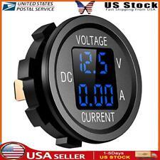 New Listingd6 Digital Voltmeter Ammeter Volt Current Panel Meter For Car Truck Blue