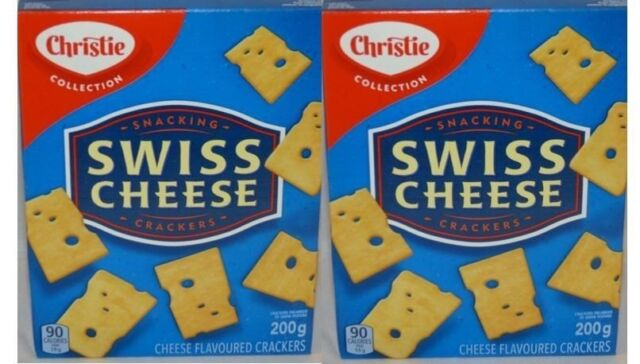 CHRISTIE Kraft Swiss Cheese Crackers New 2 boxes (200 grams each)