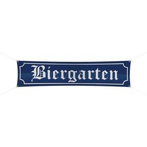 Banner-Strassenbanner-Strassenbanner-Schild-Motiv-034-Biergarten-034-ca-180-x-40-cm