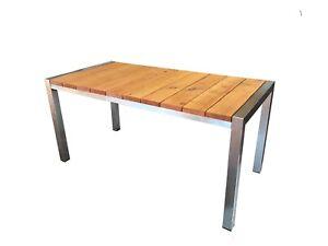 Gartentisch Edelstahl Holz.Details Zu Gartentisch Edelstahl Holz Lärche Balkontisch Tisch Terrasse Gartenmöbel