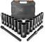 TACKLIFE 18-teilig Impact Socket Set mit 1//2 Zoll An Schlagschrauber Nüsse Set
