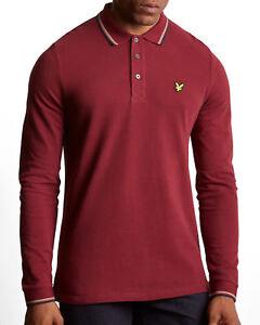 Pique Polo Scott Lyle Claret de T Longues Vintage Manches Jug Homme shirt Lp901v 5aqwxA1nYP