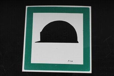 Hinweisschild Schild Helmpflicht Helm Tragen Grün 15cm X 15cm