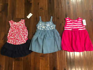 3 Piece Lot Of Baby Girl Summer Clothes Size 9 12 Months Nwt Ebay