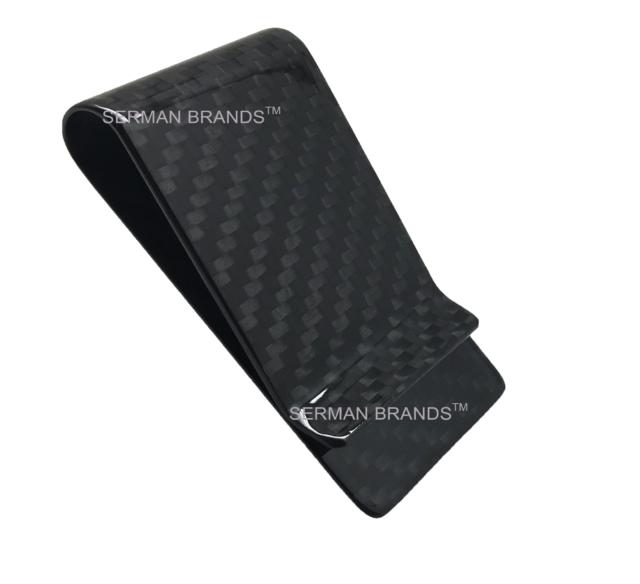 SERMAN BRANDS - Carbon Fiber Money Clip Wallet Credit Card Cash Holder Black d749a5842002