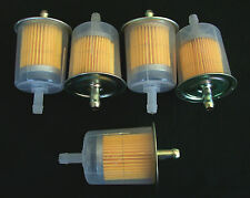 """5 GOLIATH INDUSTRIAL 5/16"""" IN LINE FUEL GAS FILTERS LAWN MOWER TRACTOR CAR TRUCK"""