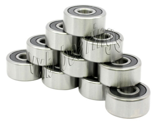 """Wholesale Lot 10 Bearing R16RS 1/""""x 2/""""x 1//2/"""" one inch Bore Sealed Ball Bearings"""