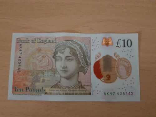 AK47 New Polymer Ten Pound Note 10 rare collectable.. AK47 425443 serial number
