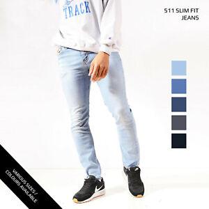 LEVIS-511-SLIM-STRAIGHT-LEG-JEANS-DENIM-GRADE-A-W30-W32-W34-W36-W38-W40