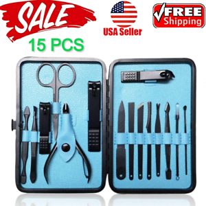 15PCS-Set-Manicure-Pedicure-Set-Nail-Clippers-Callus-Remover-Kit-Hand-Foot-Care