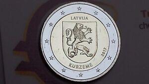 2-euro-2017-LETTONIA-Curlandia-Kurzeme-Lettonie-Lettland-Latvia