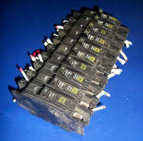 SQUARE D TYPE QOU 10 AMP CIRCUIT BREAKER *LOT OF 10*