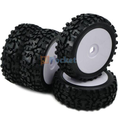 4pcs 1//8 RC Off Road Buggy Tires Wheels for Losi HPI XTR Badlands Car Upgrade