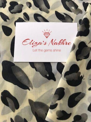 Progettazione più recente chiffon stampato Hijab in un colore crema