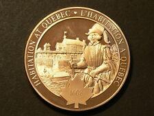 Canada, Samuel Champlain, 1608 Habitation At Quebec, Bronze Medal  #G4891