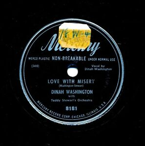 DINAH-WASHINGTON-on-1950-Mercury-8181-Love-With-Misery-I-Wanna-Be-Loved