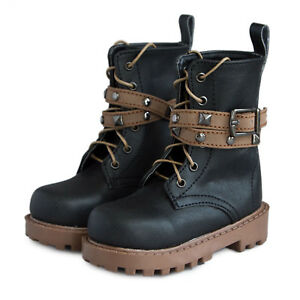 PF-46-1-4-MSD-Black-Brown-BJD-Doll-Rivet-Synthetic-Leather-Boots-Shoes