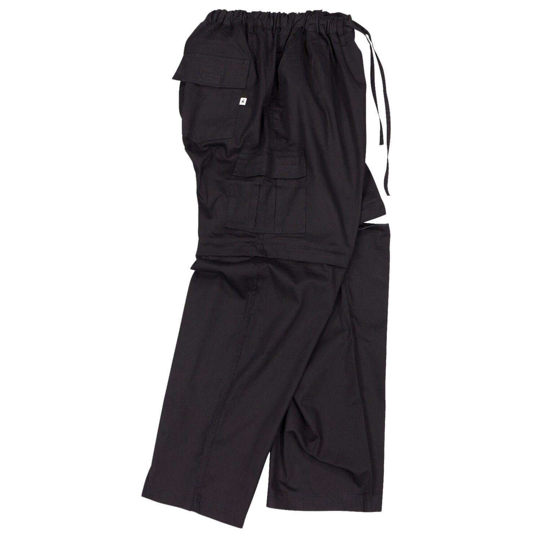 Herren Zipp-Off-Hose in schwarz von Abraxas in großen Größen von 2XL bis 12XL