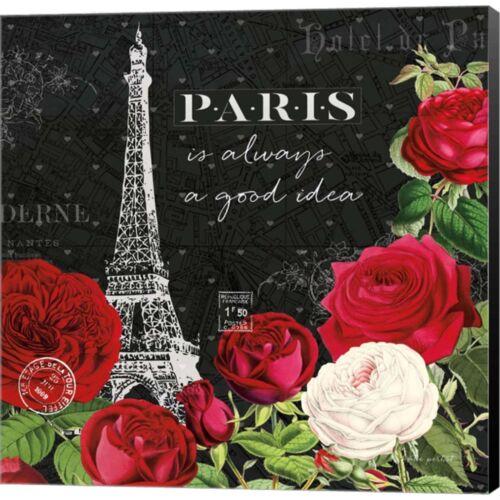24W x 24H Canvas Wall Art Rouge Paris II Black by Katie Pertiet