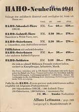 LEIPZIG, Postkarte 1941 HAHO-Neuheiten Alfons Lettmann Schaukel-Tiere Spielzeug