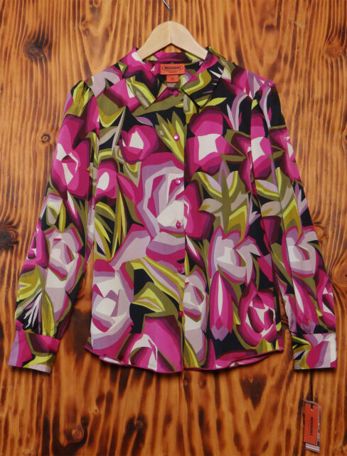 Missoni For Target Blouse NWT Abstract Rose Print Size Medium