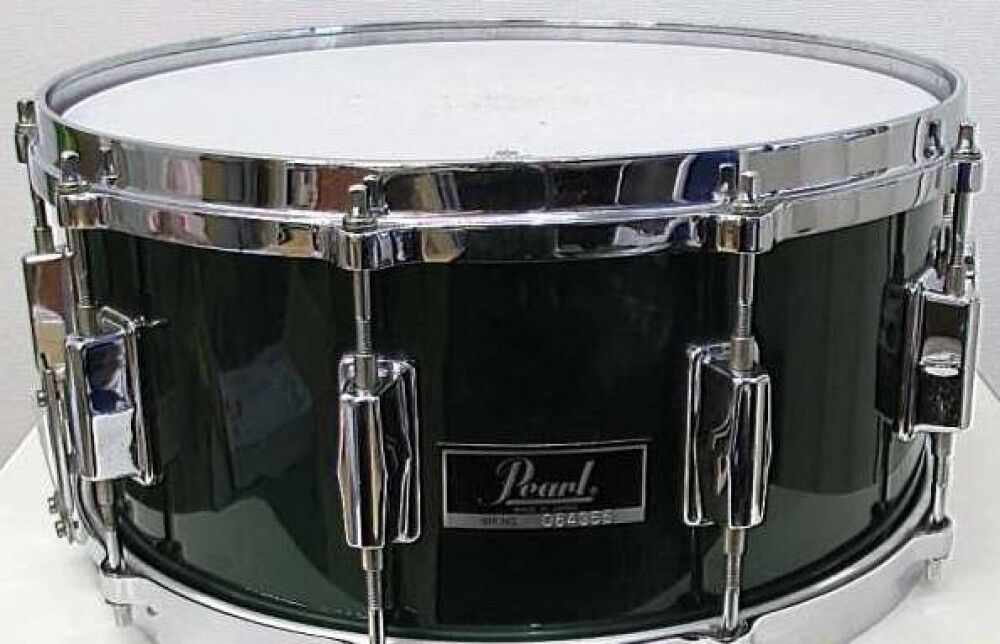 Used  PEARL Snare Drum Grün 14 x7  Made in Japan