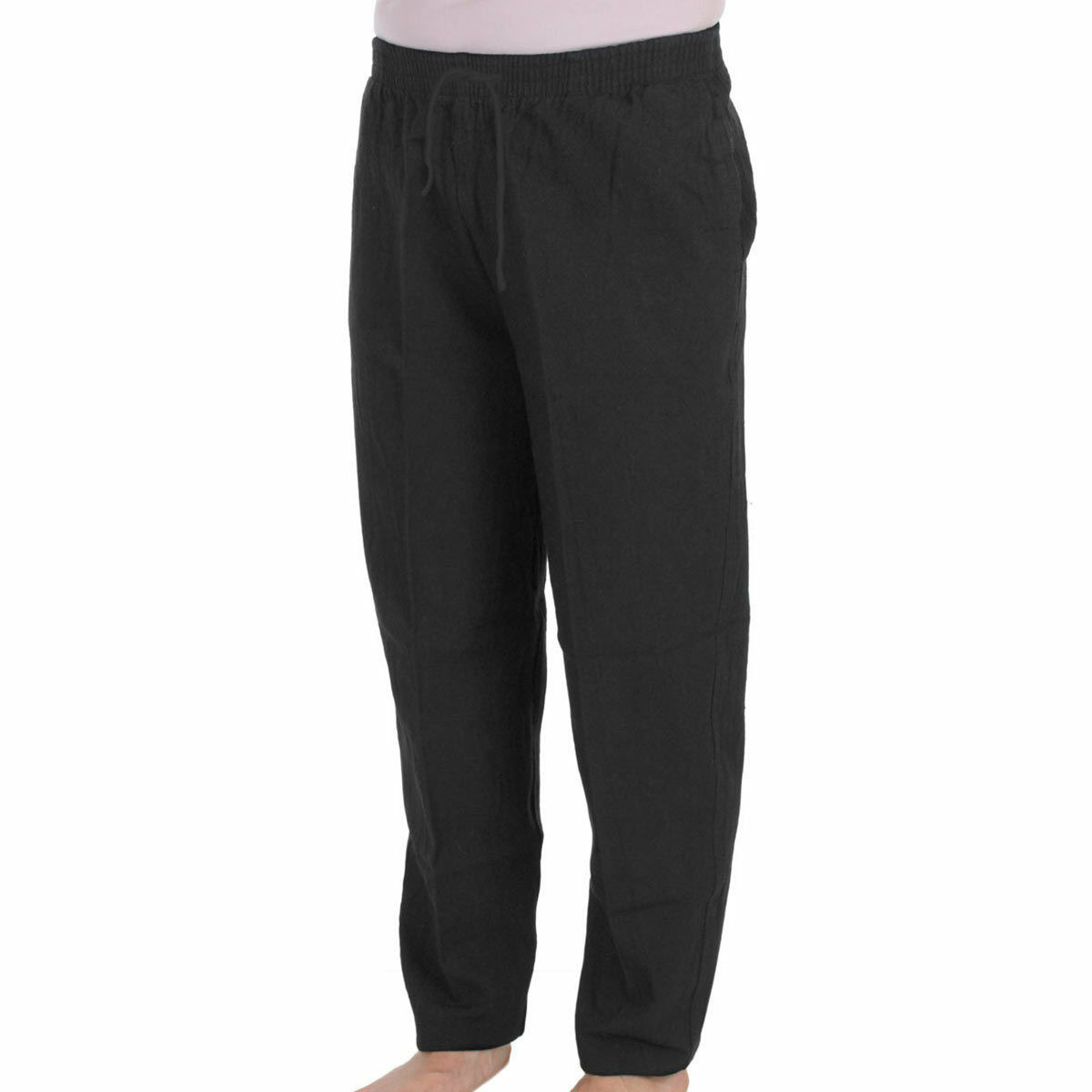 Bermuda Crinkle Cotton Lightweight Ankle Pant - Light- Relaxed Waistband - B215B
