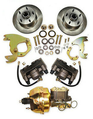 Lincoln & Continental Complete Front Disc Kit & Power Booster Combo
