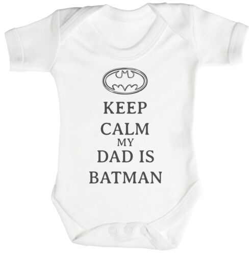 Babygrow Calm My Dad Is Batman Baby Bodysuit