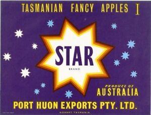 SALE-Vintage-Tasmania-Apple-Case-Labels-Fruit-Art-Poster-034-baker-039-s-dozen-034-O-13
