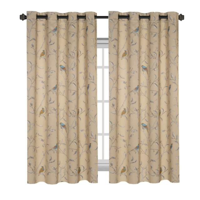 H Versailtex Thermal Insulated Room Darkening Curtains Living Blackout