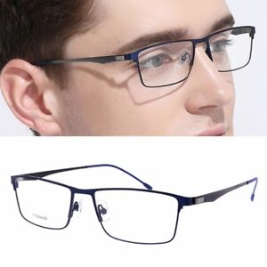 fcbb879073f Image is loading Titanium-Glasses-Frame-Men-Ultralight-Square-Eyeglasses -Male-