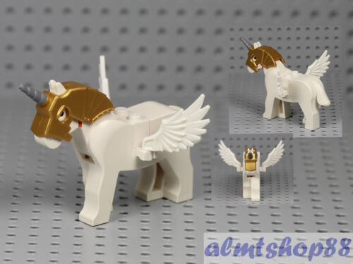 Unicorn Pegasus w// Wings Feather Flying White Horse Wind God Elves Castle LEGO