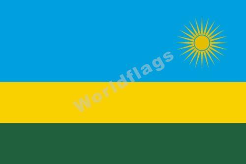 30 National Flag Rwanda Flag 3X2FT 5X3FT 6X4FT 8X5FT 100D Polyester Banner