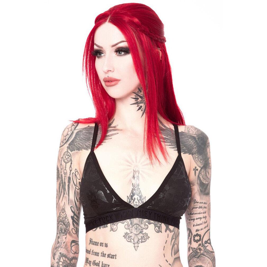 Killstar Gothic Goth Okkult BH Büstenhalter Demonica Midnight Bralet Pentagramm