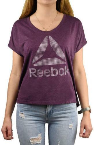 Reebok Femme T shirt à manches courtes T-shirt Linéaire Logo Haut d/'entraînement B45073