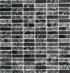Glasmosaik-Naturstein-schwarz-mix-Wand-Kueche-Bad-WC-Art-WB87-s1228-1-Matte